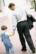 werkende vader
