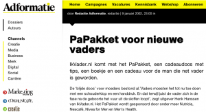 adformatie over papakket