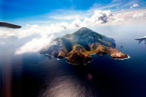 Saba-luchtfoto