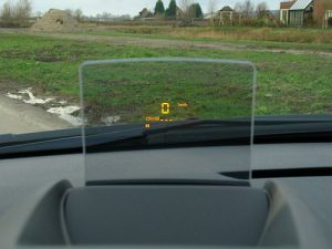 Head up display.