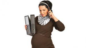 zwangere zelfstandige vrouw
