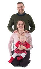gezin met baby