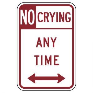 regels niet huilen