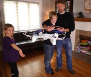 drone in huiskamer